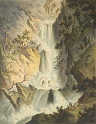 View of the Waterfall which is the 3d below the Devil's Bridge